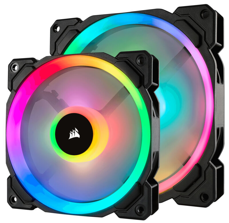 CORSAIR LL Series 140mm Case Cooling Fan Kit with RGB lighting CO-9050074-WW