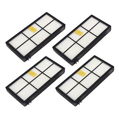 4X Replacement HEPA Filter For iRobot Roomba 800 900 Series 800 870 880 980