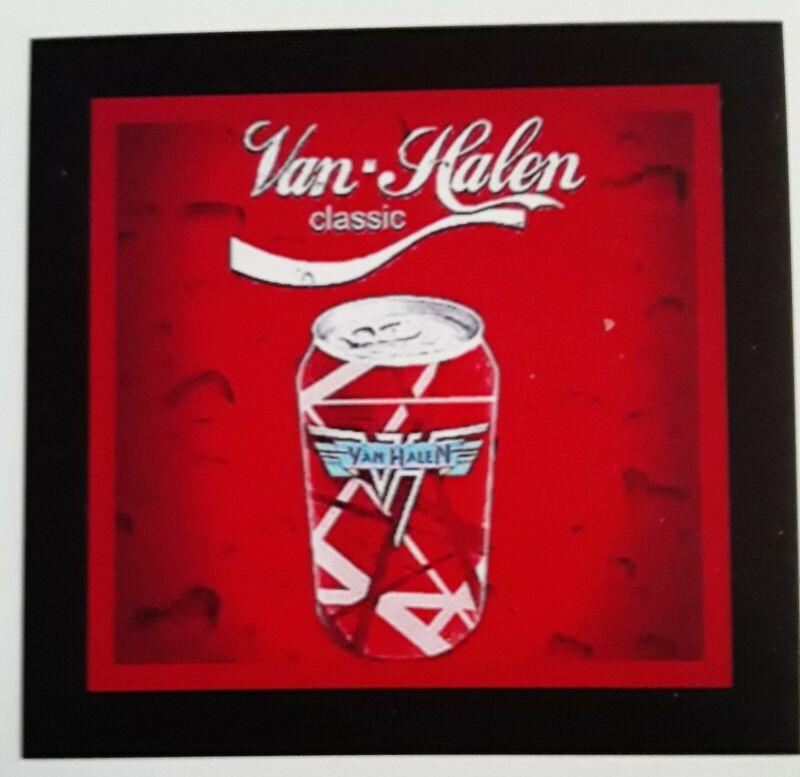 Coca-Cola-Van Halen Magnet ☆ 4 X 4 Inches