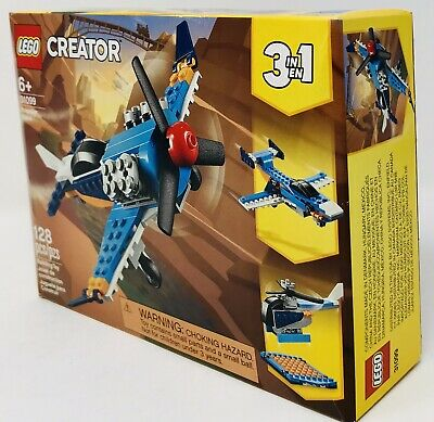 Lego Creator Propeller Plane 31099 Building Kit 3 In 1 With 128 Pieces NEW