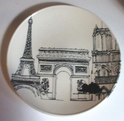 "Royal Stafford CITY SCENES Paris Eiffel Tower 12.5"" SERVING PLATTER England"