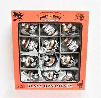 Christopher Radko Shiny Brite Halloween (Christopher Radko Shiny Brite Halloween 12 Glass Ornaments Day of The Dead)