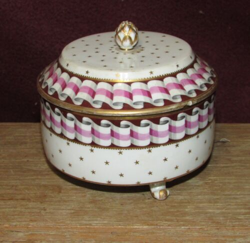 Early Antique Royal Vienna Ceramic Dresser Box