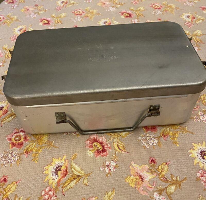 VINTAGE US Medical Emblem Military First Aid Box Metal General Purpose Surplus