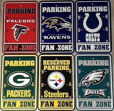 Fan Parking Sign - NFL Football Fan Zone Parking Sign 12
