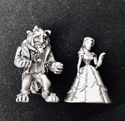 Miniature Solid Pewter Walt Disney BEAUTY and the BEAST Belle Metal Figurine Disney Beauty And The Beast Belle