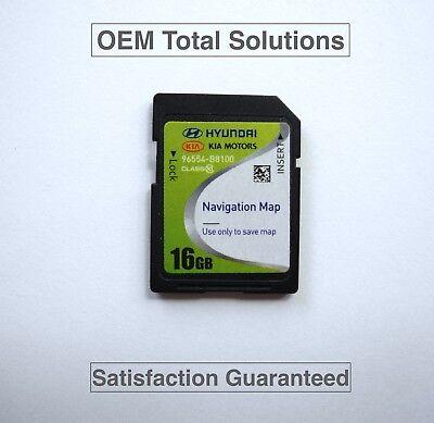 Oem-factory Nav (Genuine Hyundai Grand Santa Fe/XL Navigation SD Card Map 96554-B8100 OEM Factory)