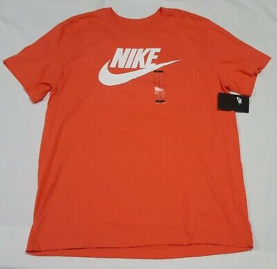 Nike Men's The Nike Futura Tee BV0622-816 color Candy Apple Scarlet  - Colored Candy Apple