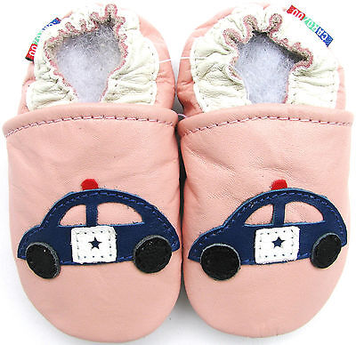 carozoo police car pink 2-3t soft sole leather toddler shoes - Toddler Pink Car