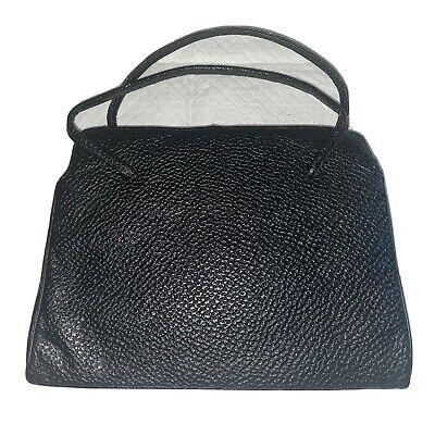 1950s Handbags, Purses, and Evening Bag Styles Womens Vintage 1950s NEW YORKER Black Leather Hand Bag Purse Gold twistlock  $20.00 AT vintagedancer.com