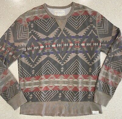 Polo Ralph Lauren Denim & Supply Aztec Beacon Crew Sweatshirt Sweater Mens Large
