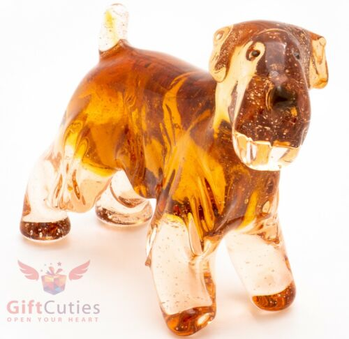 Art Blown Glass Figurine of the Soft-coated Wheaten Terrier dog