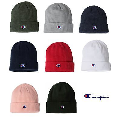 Champion Ribbed Knit Beanie Winter Cap CS4003 OSFA - Choose Color