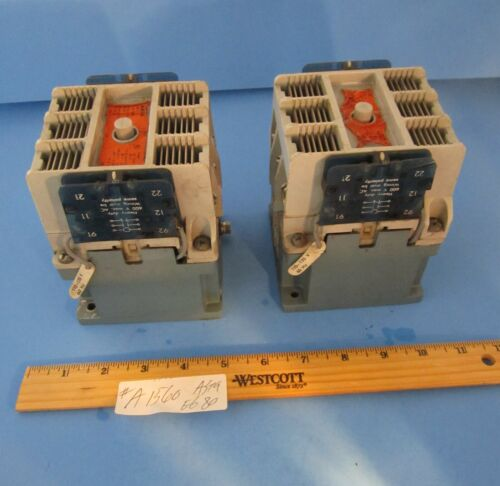 Asea Type EG 80 Size 3 Contactor 600 Vac 90 Amp 120V Coil Aux Contacts