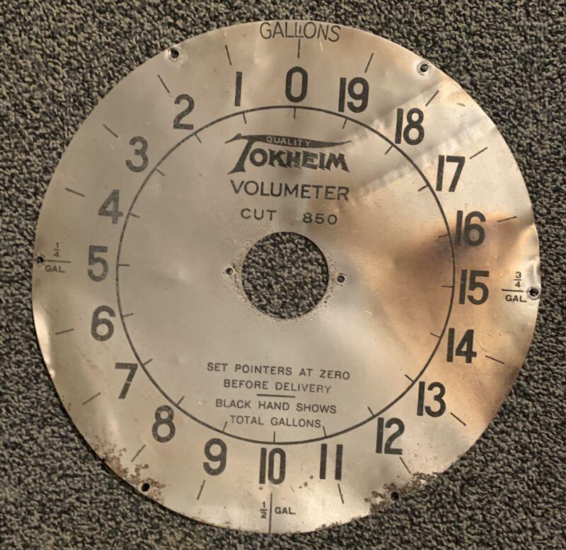 Tokheim 850 Gas Pump Clock Face Plate Dials