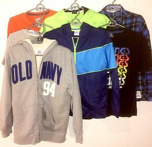 Boys 6pc Shirts and Sweaters SZ 14-16 Lot #23.