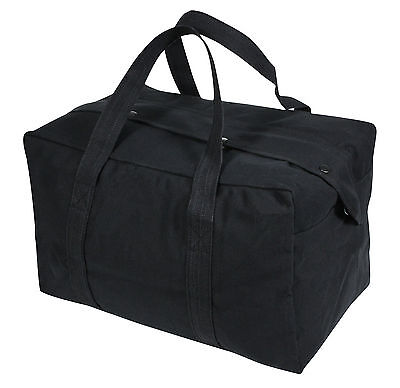 Duffle Bag - Canvas Parachute Cargo, Black by Rothco