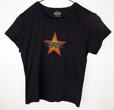 Guns N Roses Glitter Star Logo Women's Babydoll Size Medium T-Shirt NEW T1