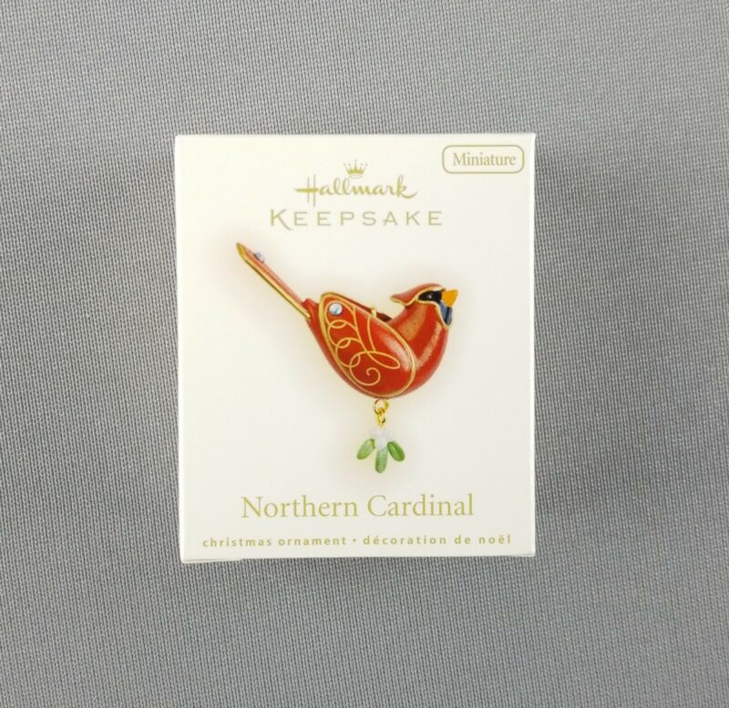 "Hallmark 2009 Keepsake Miniature Ornament ""Northern Cardinal"" Beauty of Birds"