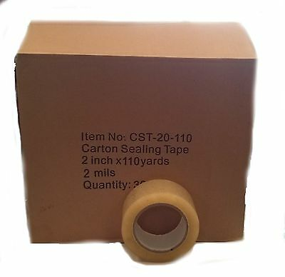 12 Rolls Carton Sealing Clear Packingshippingbox Tape- 2 Mil- 2 X 110 Yards