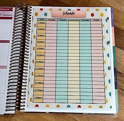 Schedule Daily Hourly Dashboard For Use With The Erin Condren Life Planner