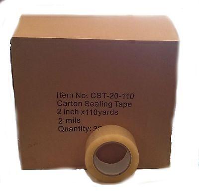 36 Rolls Carton Sealing Clear Packingshippingbox Tape- 2 Mil- 2 X 110 Yards