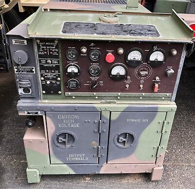 2008 Mep803a 10kw Diesel Quiet Generator 120 240 208 V Ac 60hz 2377-hr Military