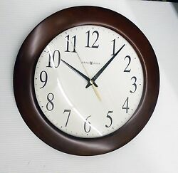 HOWARD MILLER WALL CLOCK -CORPORATE WALL 625-214 -  12.75  ROUND