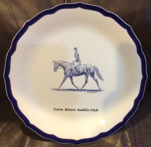 Equestrian Horse RiderTwin Rivers Saddle Club Decorative Plate