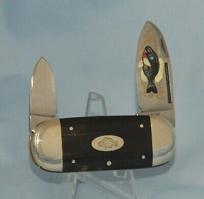 """RARE BULLDOG BUFFALO HORN BABY SUNFISH KNIFE """"1 OF 10"""" NEAR MINT! NO CASE /BOX"""