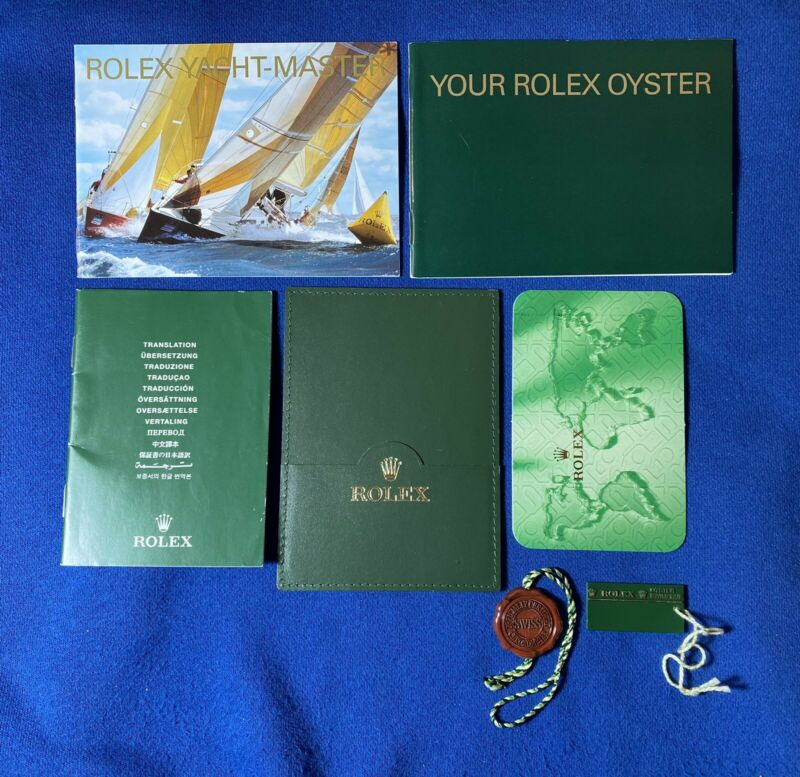 Rolex Yacht master Booklet From 2005 USA