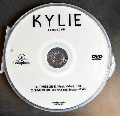 Kylie Minogue DVD music video TIMEBOMB  (not Kiss me once, i was gonna cancel