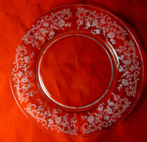 "Cambridge CHANTILLY 3625  (SET OF 4) SALAD PLATES  7 1/2""   Minimal Use"