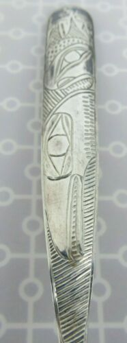 VGT Hand hammered Northwest  Sterling Spoon Tlingit Haida Ketchikan Alaska