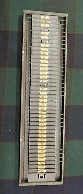 Vintage Time Card Rack Holder - 40 Slots - Industrial - Vg