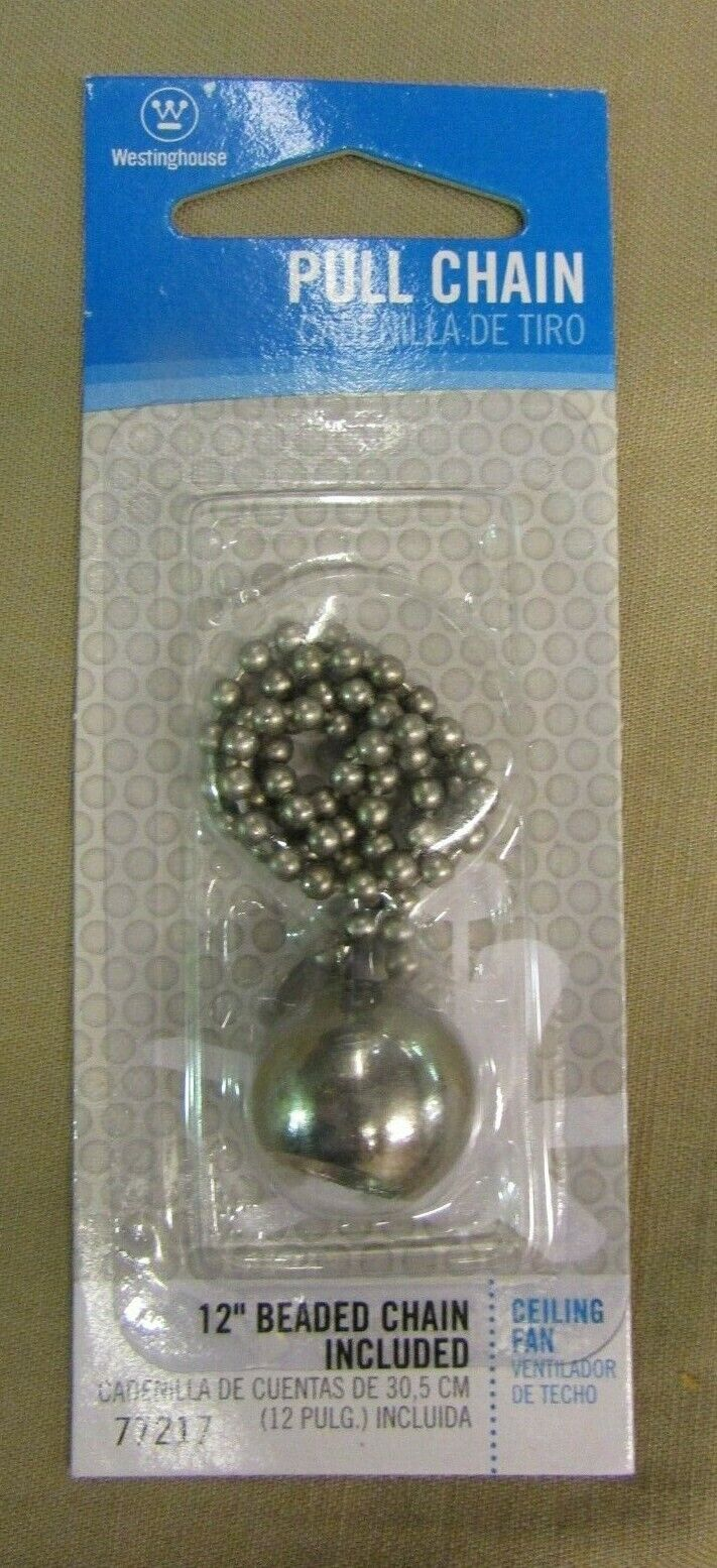 WESTINGHOUSE Ball Pull Chain, Brushed Nickel finish