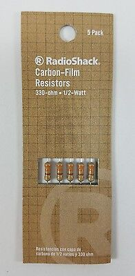 Radioshack 330-ohm 12-watt 5 Carbon Film Resistor 5-pack 271-1113