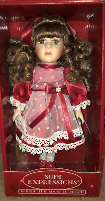 Soft Expression Genuine fine bisque Porcelain Doll  by DanDee 12