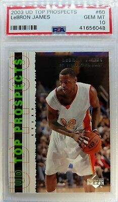 e5e413c9075 2003 03 Upper Deck UD Top Prospects LeBron James Rookie RC  60