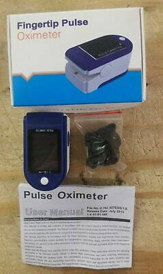 Fast Same Day Shipping Pulse Fingertip Oximeter Oxygen Monitor Blue Fhfy - New