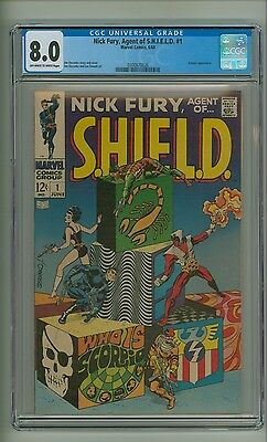 Nick Fury, Agent of SHIELD #1 (CGC 8.0) OW/W pages; Scorpio; Steranko (c#12820)