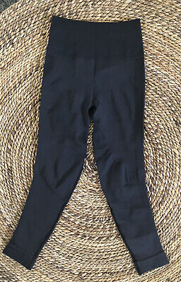Lululemon Zone In Crop Seamless Gray Compression Leggings High Rise 2/4
