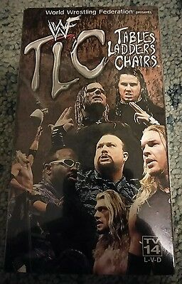 WWE TLC Edge Matt Jeff Hardy Dudley VHS Video SEALED Tables Ladder Chairs WWF
