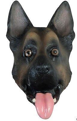 German Shepherd K9 Dog Head Adult Latex Mask Animal Halloween Costume - German Shepherd Mask