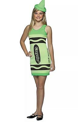 NEW Rasta Imposta Crayola Crayon TEEN Halloween Costume - Screamin' Green