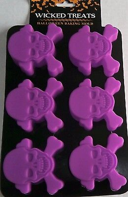 HALLOWEEN Silicone Baking Mold  SKULL AND BONES 6 Cavities
