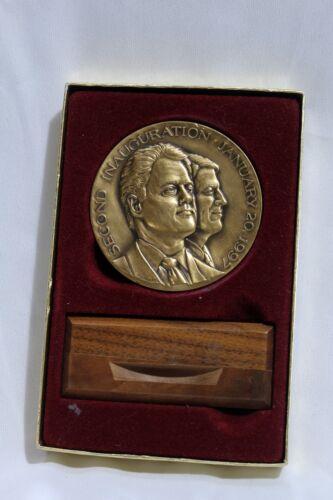 President Bill Clinton / Al Gore 1997 official inaugural bronze medal -New