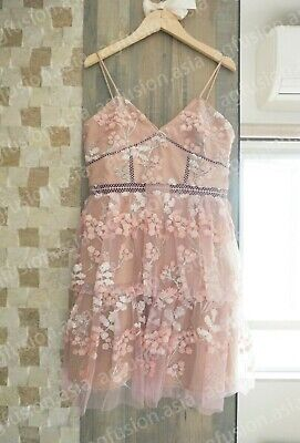Embellished Dresses Clearance (CLEARANCE SALE !! NWT Authentic Self Portrait pink floral embellished mini)