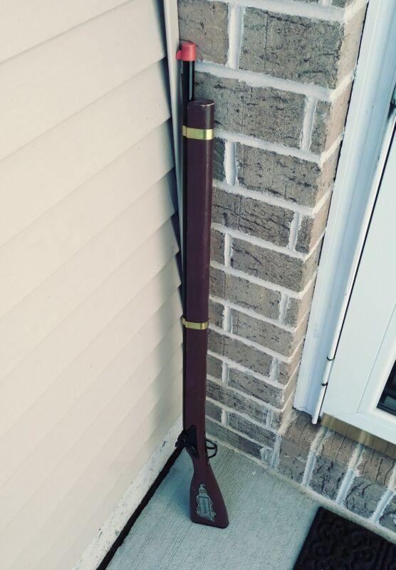 """Vintage Parris Flintlock Musket Rifle Toy Cap Gun Wood Metal 37"""" Orange Plug"""