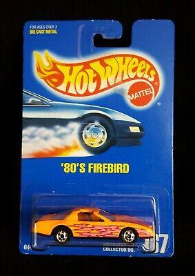 1991 Hot Wheels '80s Firebird Orange 167 Blue Card